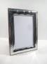 1082 cornice argento 925 moderna,fascia larga,  foto 9x13
