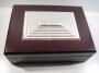 5011 Cofanetto legno con blasone argento 925 in rilievo