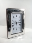 1248 orologio  cornice argento 925, larga, ondulata,  9x13