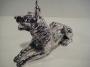 2330 Cane lupo grande placcato argento