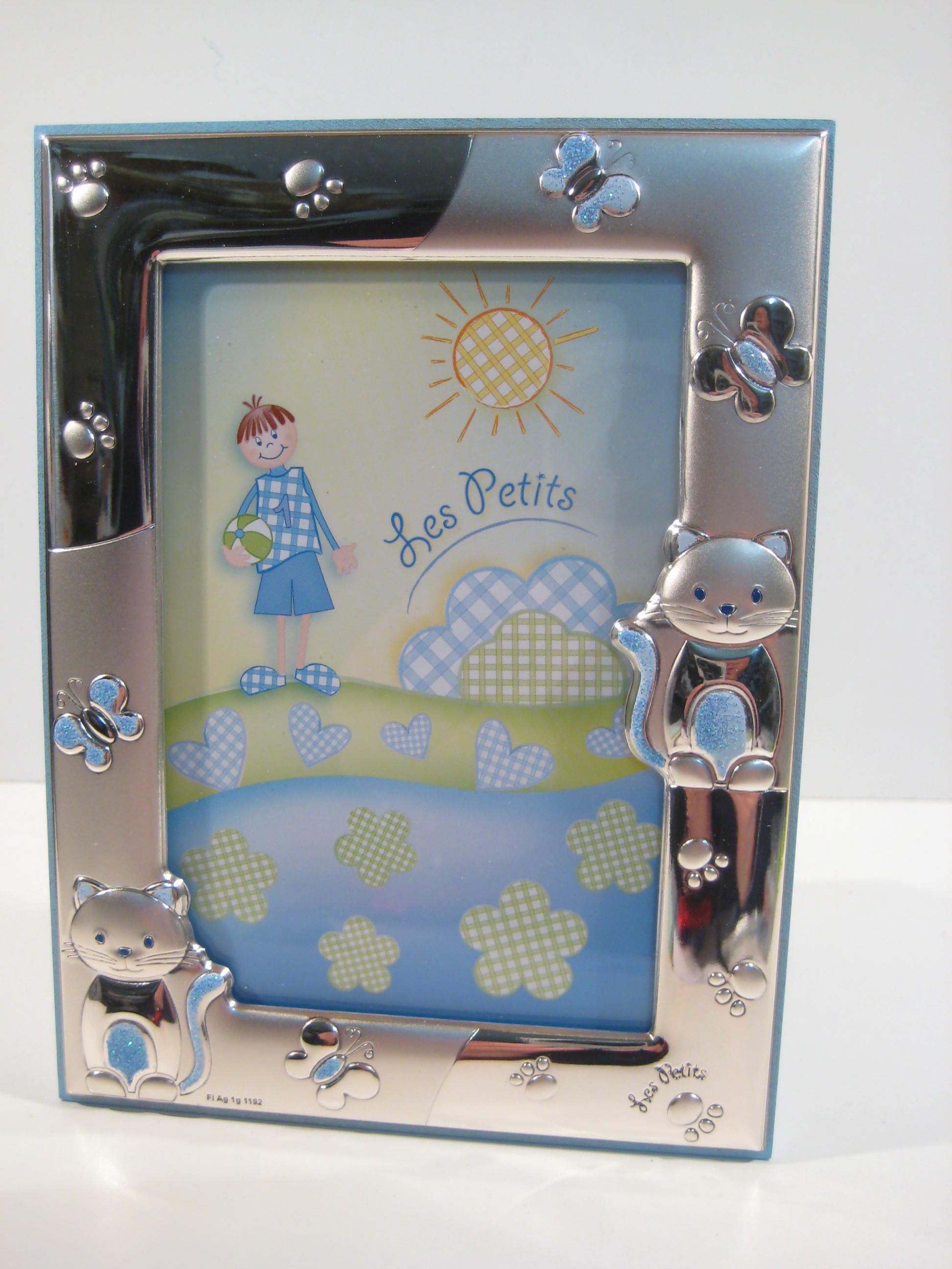 Silverware - 4336 cornice Bimbo, argento 925,gattini, 9x13